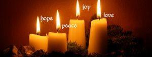 Hope Peace Joy Love Candles